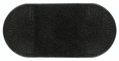 Andersen 274 Waterhog Grand Classic Polypropylene Fiber Double Ends Entrance Indoor/Outdoor Floor Mat, SBR Rubber Backing, 7.1' Length x 3' Width, 3/8