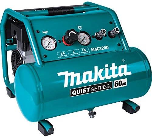 Makita MAC320Q Quiet Series 1-1/2 HP 3 Gallon Oil-Free Electric Air Compressor