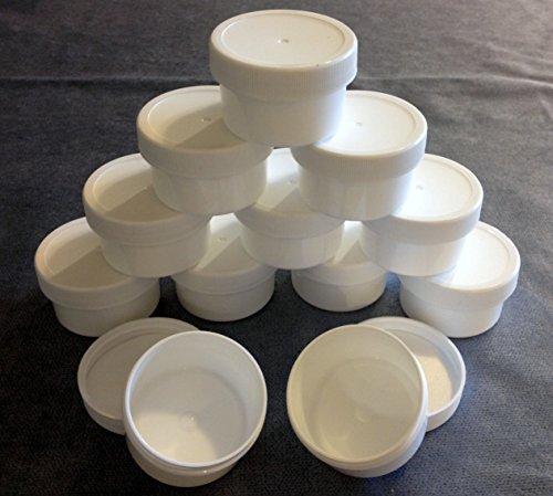 White Polypropylene Jar with Lid, Set of 12 ()