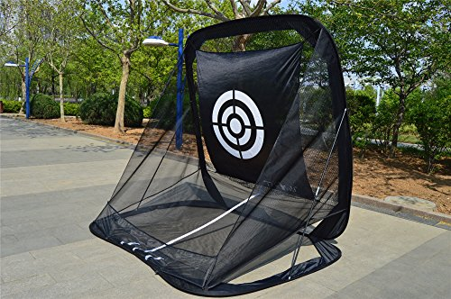 77tech Golf Practice Hitting Net Cage Automatic Ball Return System Tri-ball Golf Driving Chipping Net Training Aid with Target sheet and Two Side Barrier by Golf Net (Image #4)