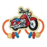 Kids Preferred HD Motorcycle Silicon/Wood Rattle