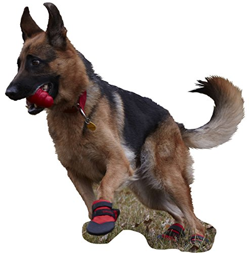 Ultra Paws Durable Dog Boots LARGE Red by Ultra Paws (Image #3)