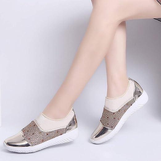 POLP Zapatos al Aire Libre de la Tela elástica de Las Mujeres Soles cómodos Ocasionales Que se Ejecutan los Zapatos de los Deportes Running Elasticidad ...