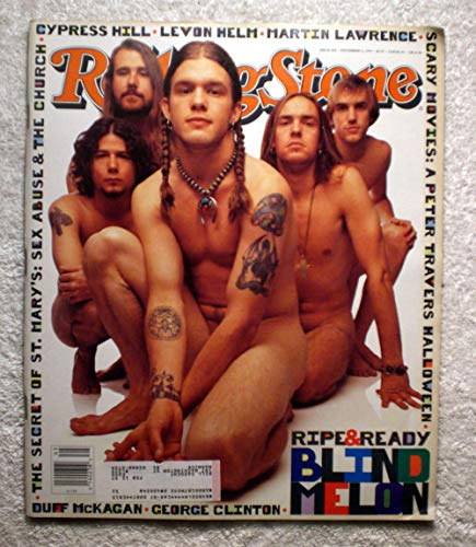 Shannon Hoon - Blind Melon - Rolling Stone Magazine - #669 - November 11, 1993 - The Secret of St. Mary's: Sex Abuse & The Church, Cypress Hill, Halloween (Movie) articles -
