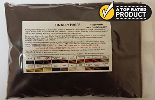 New Hair Building Fibers 100+14=114 Grams. Highest Grade Refill That You Can Use for Your Bottles From Competitors Like Toppik, Xfusion, Eclipse (Dark Brown) by Finally Hair