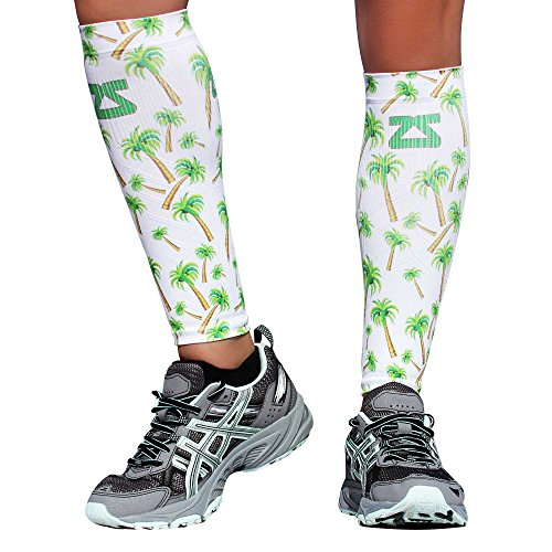 - Zensah Compression Leg Sleeves, Palm Tree, X-Small/Small