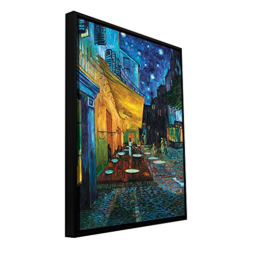 "ArtWall ""Cafe Terrace at Night Floater Framed Gallery-Wrapped Canvas Art by Vincent Van Gogh, 36 by 48-Inch, Holds 34.5 by 46.5-Inch Image from ArtWall"
