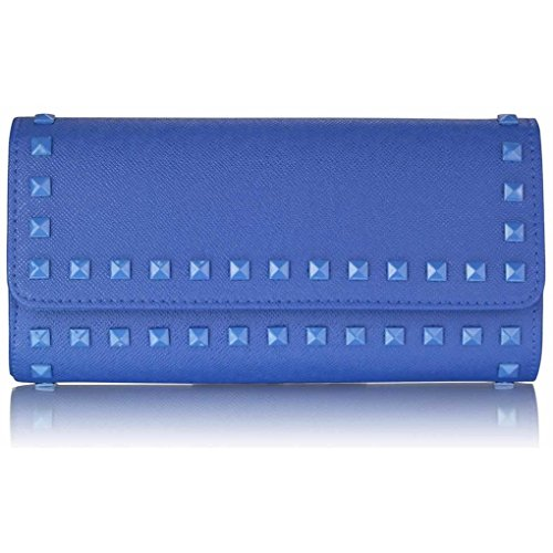 LeahWard Women's Sparkly Clutch Purse Handbag For Prom Wedding Night Put Dinner Party CWE0026 BLUE STUDDED CLUTCH BAG