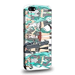 Case88 Premium Designs Vocaloid Miki Hatsune Miku Blackrock Shooter 0948 Carcasa/Funda dura para el Apple iPhone 5 5s