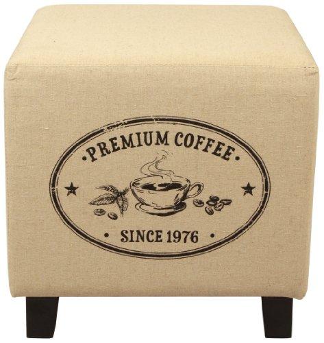 Lux Home Vintage Recycle Ottoman Footstool Coffee Pattern - Vintage Footstool