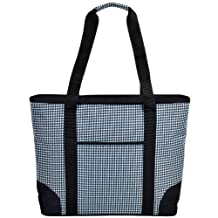 Houndstooth Extra  Large Insulated Tote