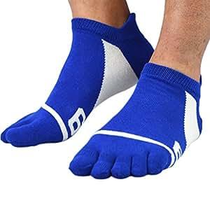 Mengonee Hombres Jacquard calcetines del dedo del pie peinados de algodón transpirable cuatro estaciones Deportes Correr Calcetines… Ly0VkmzE5H