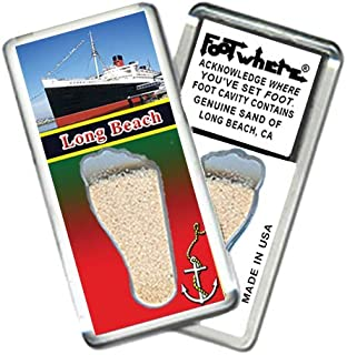 "product image for Long Beach""FootWhere"" Souvenir Fridge Magnet (LB201 - Queen Mary)"