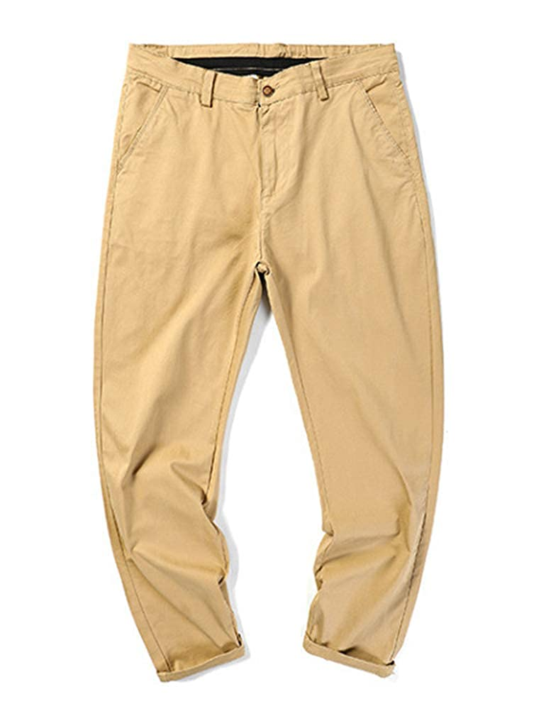 IDEALSANXUN Mens Stretchy Relaxed Fit Twill Pant