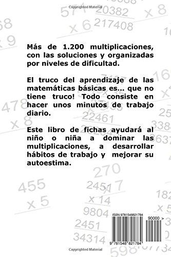Libro de Fichas - Multiplicaciones - Nivel II: Para niños y niñas de 9-10 años 4º Primaria : Volume 6: Amazon.es: Carlos Arribas: Libros