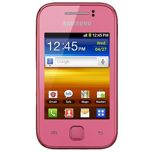 Samsung GT-S5360L Galaxy Y Unlocked Phone - US Warranty - Coral Pink (Samsung Mobile Phone Gt)