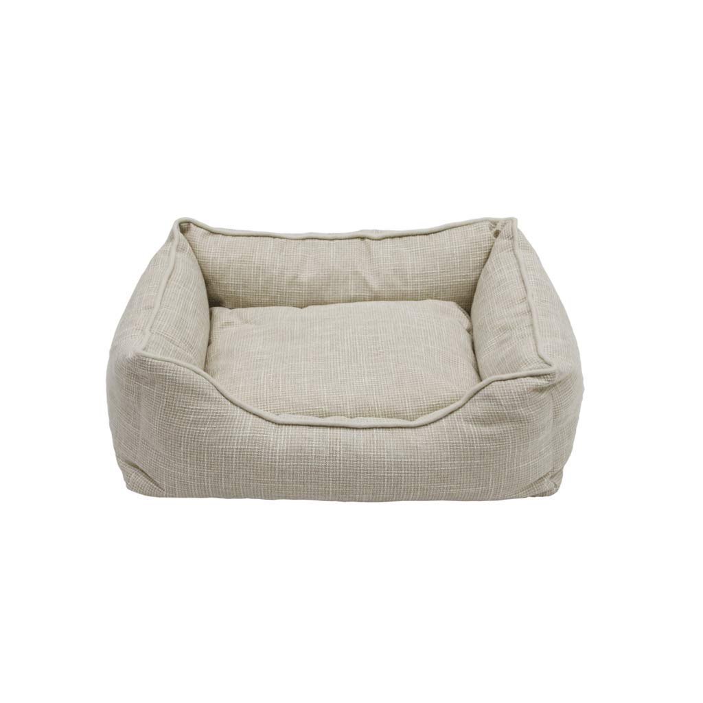 L WANGXIAOLIN Dog mat, kennel, large dog, linen, removable, grey plaid, wearable, dog bed, pet nest, cat litter (3 sizes) (Size   L)
