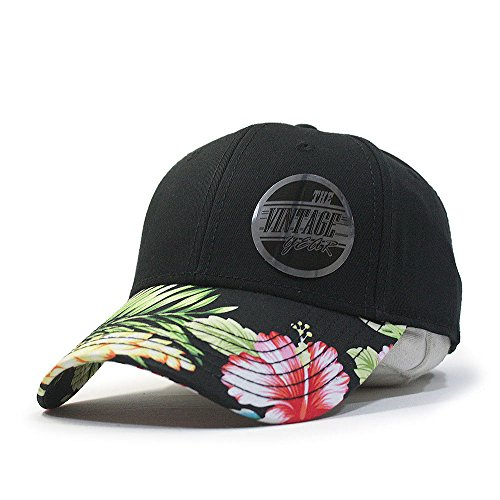 Premium Floral Hawaiian Cotton Twill Adjustable Snapback Hats Baseball Caps - Snapback Men's Floral