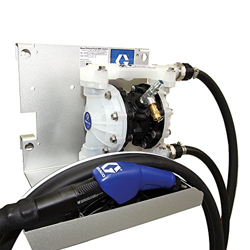 Graco 24V678 SD Blue Pneumatic Diesel Exhaust Fluid (DEF) Tote Pump Package with Auto Nozzle, 15 gpm Max Flow Rate Air Operated Double Diaphragm Drum