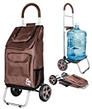 Trolley Dolly, Brown Shopping Grocery Foldable Cart