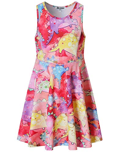 (Jxstar Watercolor Dinosaurs Dresses for Little Girls Birthday Party Gifts for)