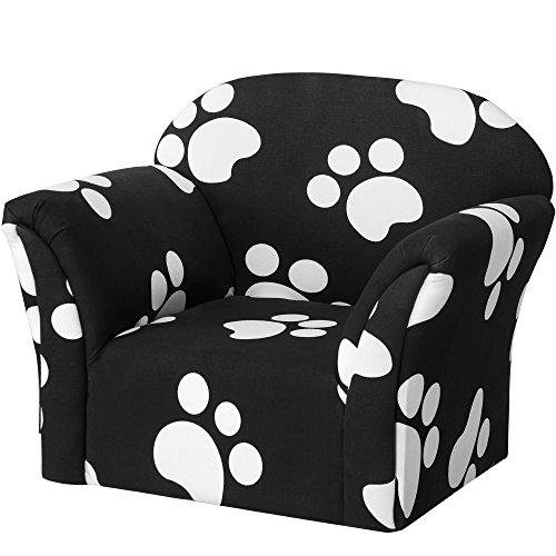 Harper&Bright Designs Kids Sofa Children Armrest Chair, Black and White