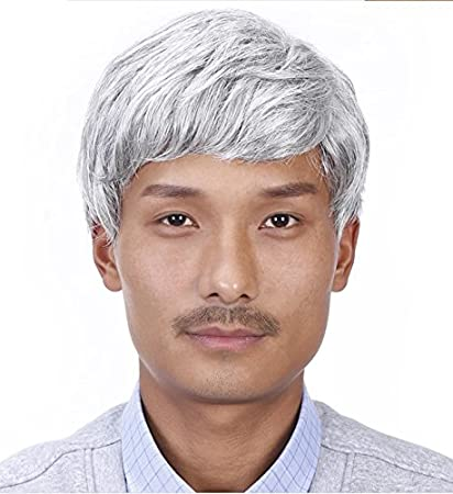 Image Unavailable. Image not available for. Color  Play old men s wig short  straight hair ... 2b0027a7a0bf
