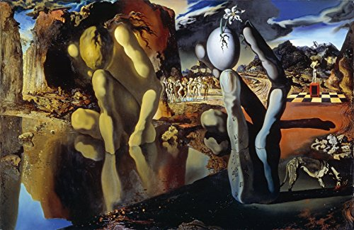 (Salvador Dali - Metamorphosis of Narcissus, Size 22x36 inch, Gallery Wrapped Canvas Art Print Wall décor)