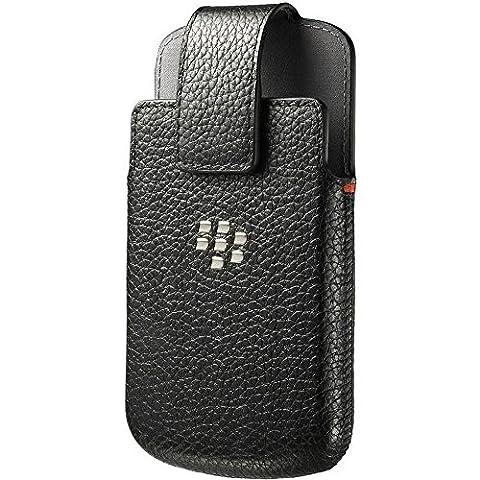 BlackBerry Leather Swivel Holster for BlackBerry Q10 - Black (Blackberry Q 10 Phone Cases)