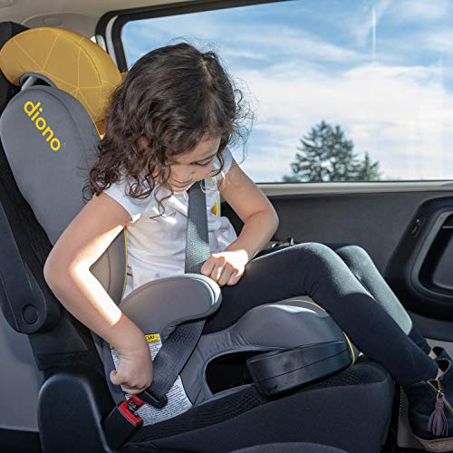 51VgDWkIZIL - Diono Monterey XT Latch, 2-in-1 Belt Positioning Booster Seat With Expandable Height/Width, Blue