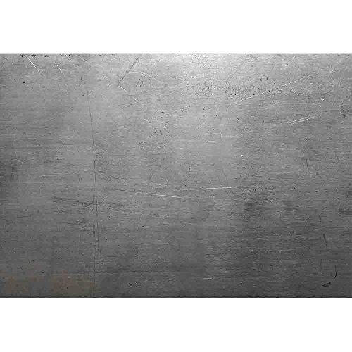wall26 - Polished Steel - Removable Wall Mural   Self-adhesive Large Wallpaper - 100x144 inches by wall26 (Image #1)