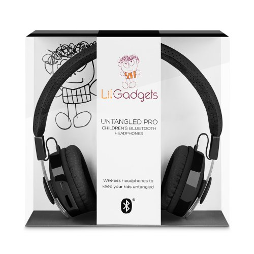 LilGadgets Untangled Pro Children's Wireless Bluetooth Headphones Black, Best Gadgets