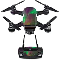 Skin for DJI Spark Mini Drone Combo - Aurora Borealis| MightySkins Protective, Durable, and Unique Vinyl Decal wrap cover | Easy To Apply, Remove, and Change Styles | Made in the USA