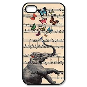 Elephant on Dictionary ZLB522714 DIY Case for Iphone 4,4S, Iphone 4,4S Case
