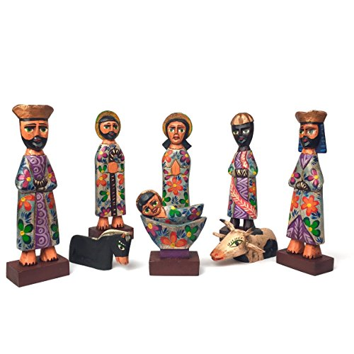 Altiplano Large Hand Carved Nativity Set Fair trade Made In Guatemala