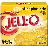 JELL-O ISLAND PINEAPPLE GELATIN DESSERT 85g AMERICAN JELLO