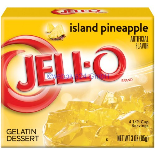 Jell-O Island Pineapple, Gelatin Dessert 3.0 oz -