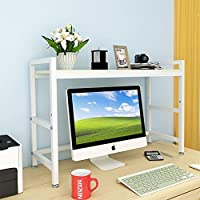 JX&BOOS Desktop bookshelf,Simple rack computer desk rack student dormitory multi-function-U 75x24x60cm(30x9x24)