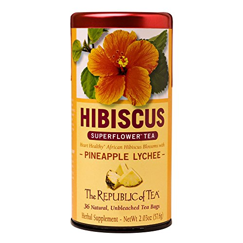 (The Republic of Tea, Pineapple Lychee Hibiscus, 36-Count)