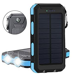 Solar Charger Tagital Solar Power Bank 12000mah External Backup Battery Pack Dual