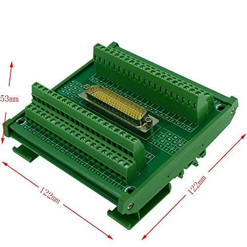 (Gimax Servo DB78 male DIN Rail Mount Interface Module, DB78 male Breakout Board, DB78 male to screw terminal block)