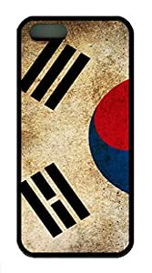 iPhone 5S/5 Case,Black¡ê?Soft TPU Plastic,Protective Case,Soft Case(can be customized)Soft Cover Snap on Case,Ultra-thin Case,Protective iPhone-Flag South Korea