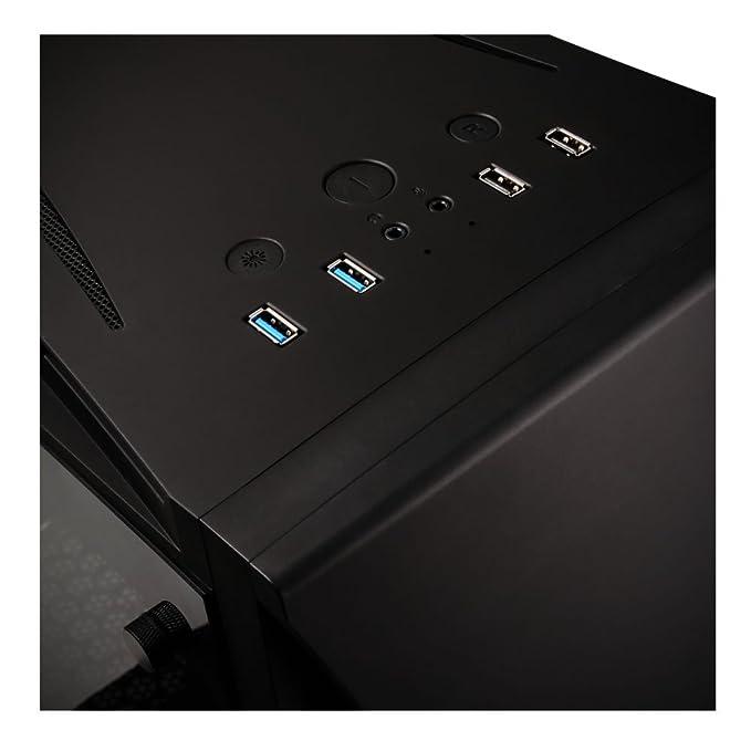 BitFenix Enso - Caja de Torre de Cristal Templado, ATX/MATX/Mini ITX, con Diseño de LED RGB ASUS Aura Sync con Controlador -BFC-ENS-150-KKWGK-RP Negro ...