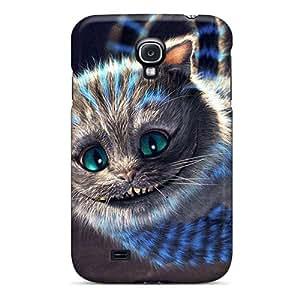 New Premium Flip Case Cover Horror Cat Wallpaper Skin Case For Galaxy S4