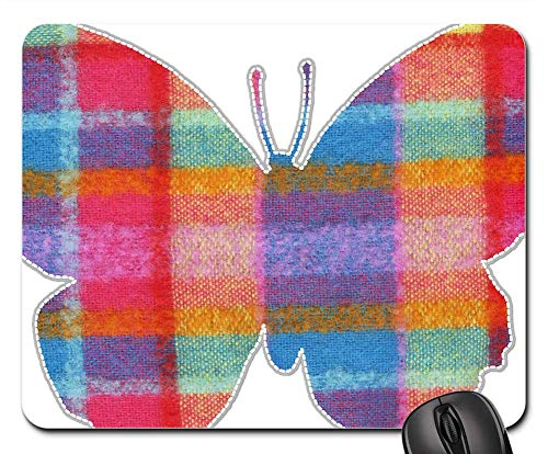 Mouse Pad - Butterfly Pink Clipart Cute Flying Wings Nature 1