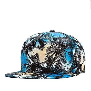 HONGHENG Hawa/ïenne Coco Arbre Impression///Casquettes Unisexe Hip Hop Chapeau Plat Projet De Loi Casquettes De Baseball Couples Amoureux Plage Soleil Chapeaux