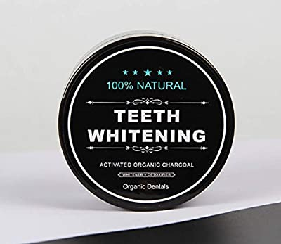 Organic Dentals Natural Teeth Whitening Activated Organic Charcoal Powder - with Organic Activated Detoxifier Charcoal for Stronger Healthy Whiter Teeth. Tooth and Gum Powder