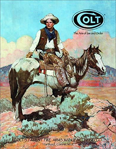 "Desperate Enterprises Colt - Tex and Patches Tin Sign, 12.5"" W x 16"" H"