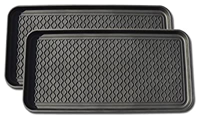 Multi-purpose Tray By Alex Carseon, for Boots, Shoes, Paint, Pets, Garden, Laundry, Kitchen, Pantry, Car, Entryway, Garage, Mudroom. Indoor-outdoor Storage and Floor Protection, Use As Cat Litter Mat or Dog Feeding Mat - 30x15x1.2 Inches by Alex Carseon
