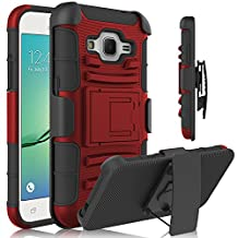 Core Prime Case, Galaxy Core Prime Holster Case, HengTech (TM) Shockproof Hybrid Armor Defender Case Shell with Kickstand & Belt Swivel Clip for Samsung Galaxy Core Prime (G360)/ Prevail LTE